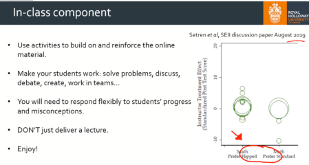 Student performance is correlated with lecturer's preference
